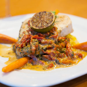 A delicious dish at the Atlantic Oceanside Hotel Bistro on Eden in Bar Harbor, Maine
