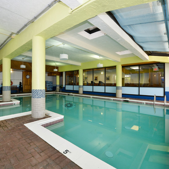 The indoor pool at the Atlantic Oceanside Hotel in Bar Harbor, Maine.