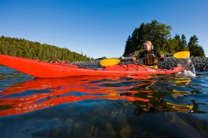 Kayaking in Acadia. Photo © Jerry and Marcy Monkman/EcoPhotography.