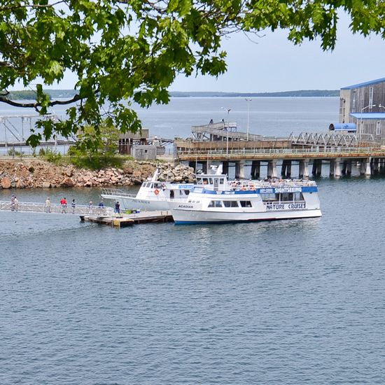 The Atlantic Oceanside Hotel features a private dock. Cruises depart daily, in season.
