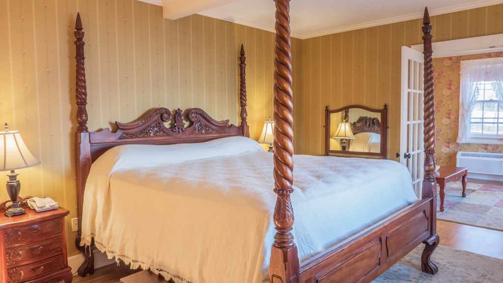 Willows king suite 212 at the Atlantic Oceanside Hotel in Bar Harbor, Maine