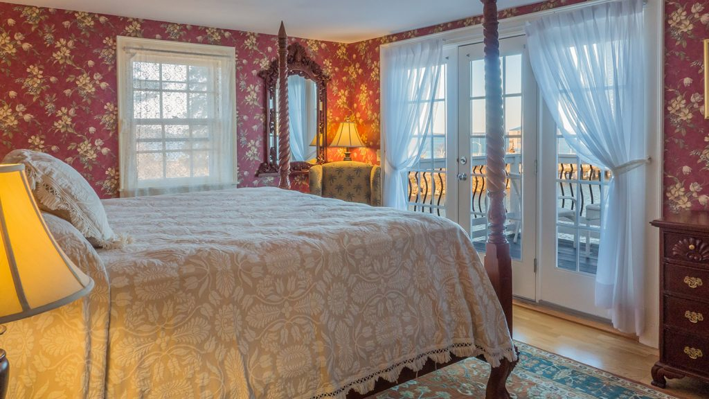 Willows King room 828 in the Atlantic Oceanside Hotel in Bar Harbor, Maine