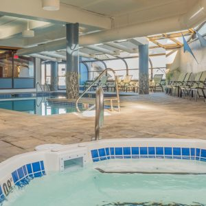 The indoor hot tub at the Atlantic Oceanside Hotel in Bar Harbor, Maine