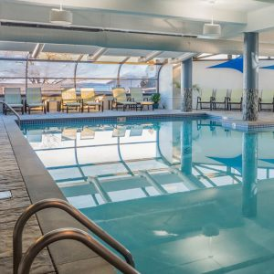 The indoor pool at the Atlantic Oceanside Hotel in Bar Harbor, Maine
