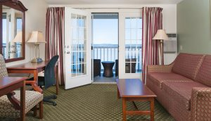 A room in the Oceanside Building at the Atlantic Oceanside Hotel